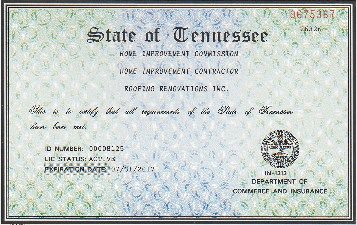 Home Improvement License