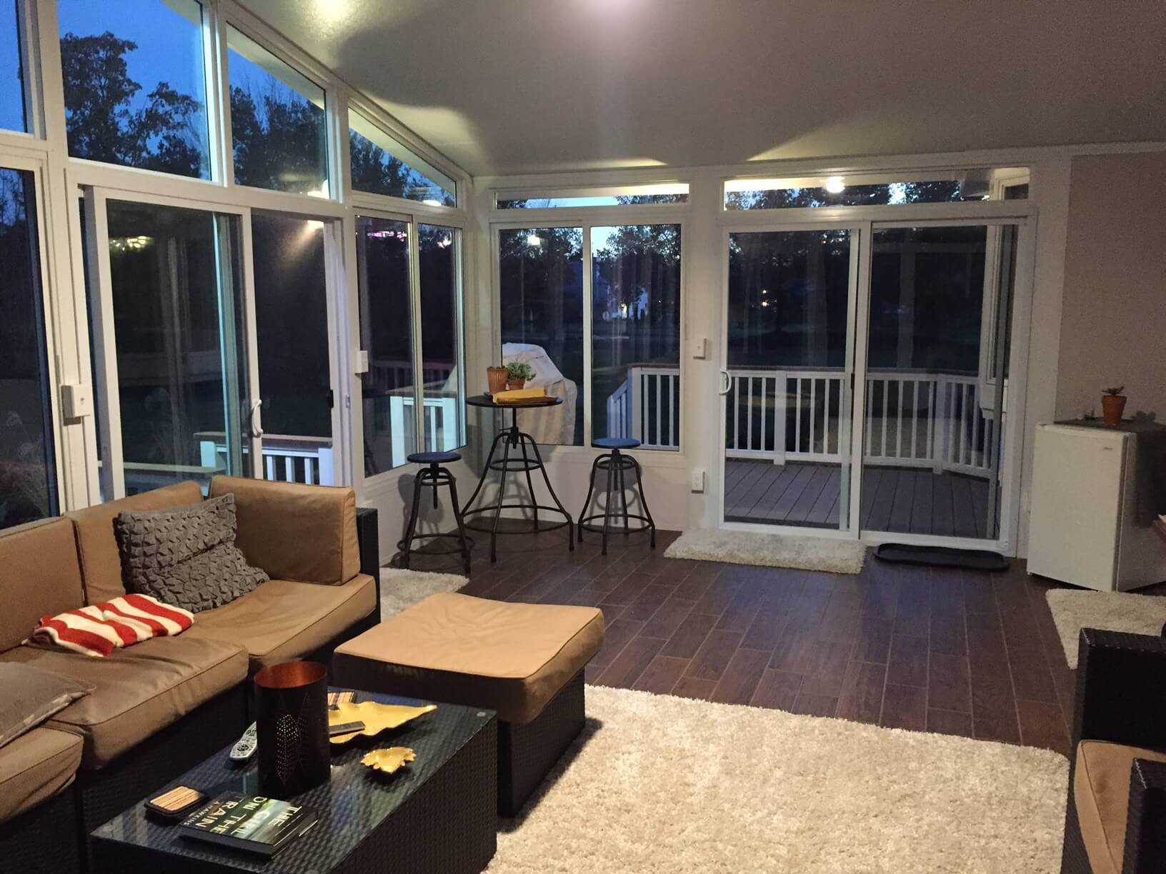 Sunroom by Roofing Renovations of Franklin Tennessee add livable space to your house.